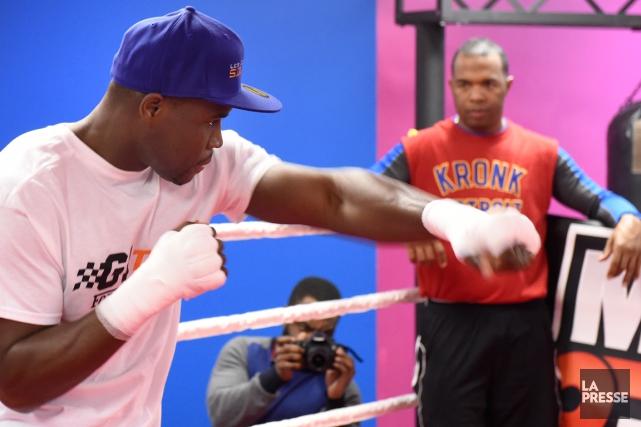 Adonis Stevenson à l'entraînementà son gymnase du nord... (Photo Bernard Brault, La Presse)