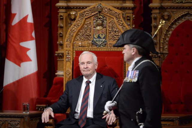 David Johnston occupe les fonctions de gouverneur général... (Photo Adrian Wyld, La Presse canadienne)