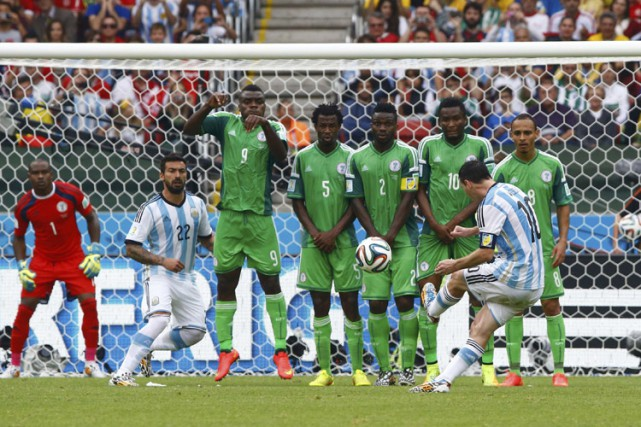 Le Nigeria lors de son match contre l'Argentine... (Photo: Reuters)