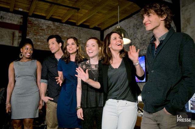 Les comédiens de la nouvelle saison des Jeunes... (PHOTO La Presse, FRANçOIS ROY)