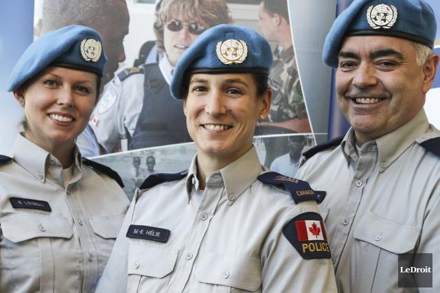 La sergente-détective Sonia Loiseau, la sergente-détective Marie Eve... (Patrick Woodbury, LeDroit)