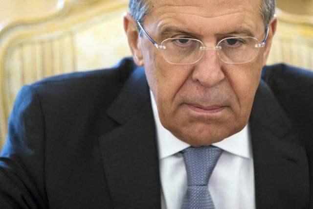 Le ministre russe des Affaires étrangères,Sergueï Lavrov... (Photo Pavel Golovkin, AP)
