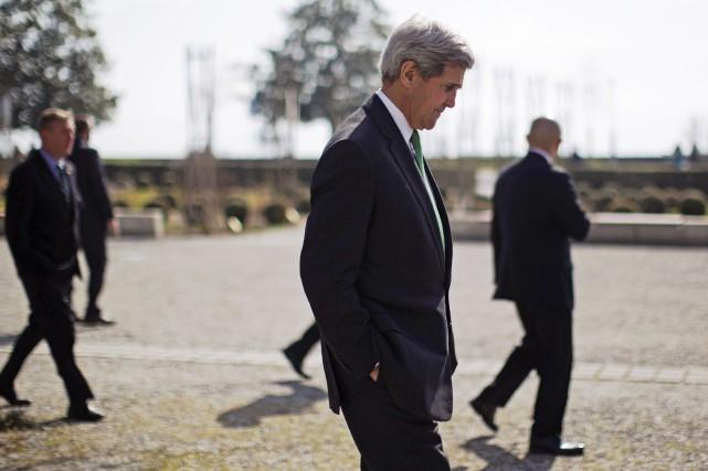 Le secrétaire d'État des États-Unis, John Kerry... (PHOTO AFP)
