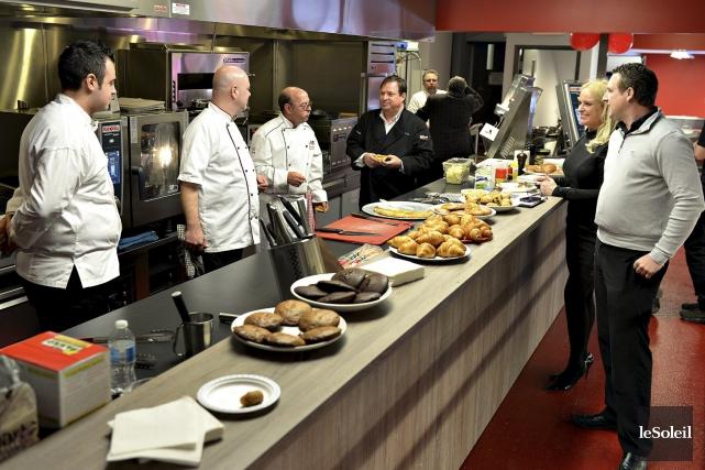 La cuisine de démonstrations culinaires est dotée d'équipements... (Le Soleil, Patrice Laroche)