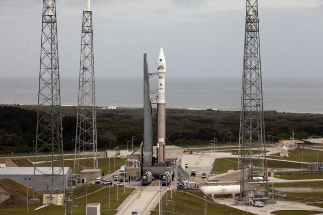 La sonde Maven a été lancée vers Mars... (Photo NASA, AP)