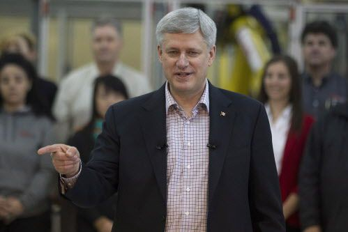 Le premier ministre Harper a rappelé que les... (Photo Chris Young, La Presse canadienne)