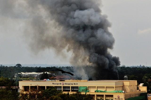 L'attaque contre le centre commercial Westgate à Nairobi... (Archives AFP)