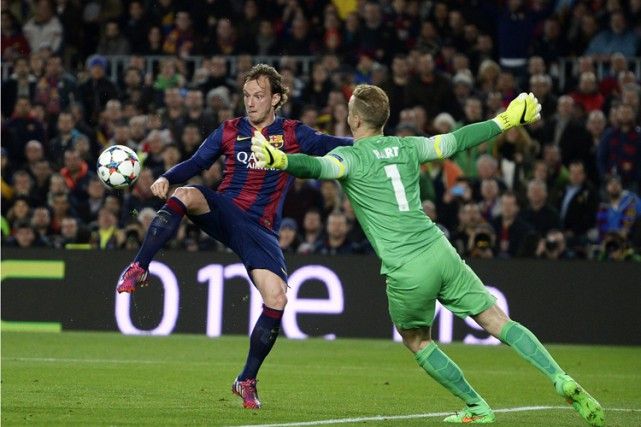 Ivan Rakitic a inscit un but à la... (Photo: AP)