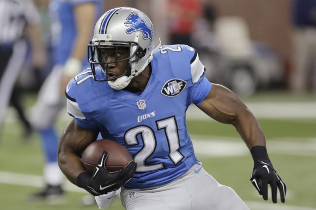 Reggie Bush portait l'uniforme des Lions de Detroit... (Archives AP)