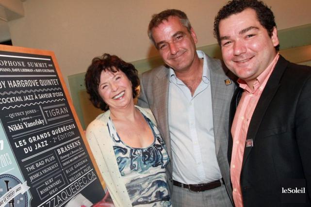 Gino Ste-Marie (au centre) et Simon Couillard lors... (Photothèque Le Soleil)