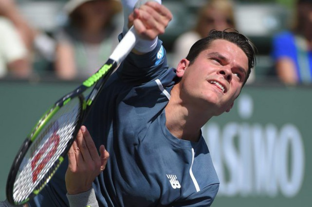 Milos Raonic... (Photo d'archives, Agence France-Presse)