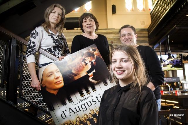L'équipe du film La passion d'Augustine était de... (Imacom, Jocelyn Riendeau)
