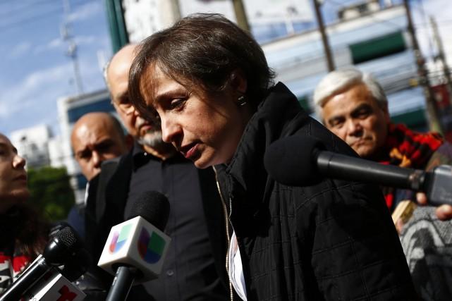 Carmen Aristegui ne présente plus depuis lundi le... (Photo Carmen Aristegui, Reuters)