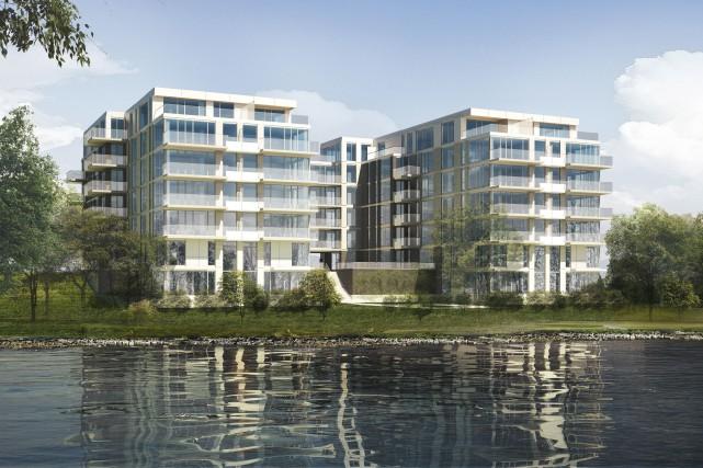 Le complexe Eau Habitat Riverain s'élèvera en bordure... (ILLUSTRATION FOURNIE PAR LE GROUPE CHOLETTE)