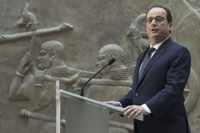 Le président français François Hollande lors de son... (Photo: AFP)