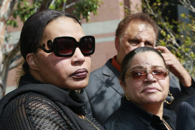 Nona Gaye, fille de Marvin Gaye, et son... (Photo: AP)