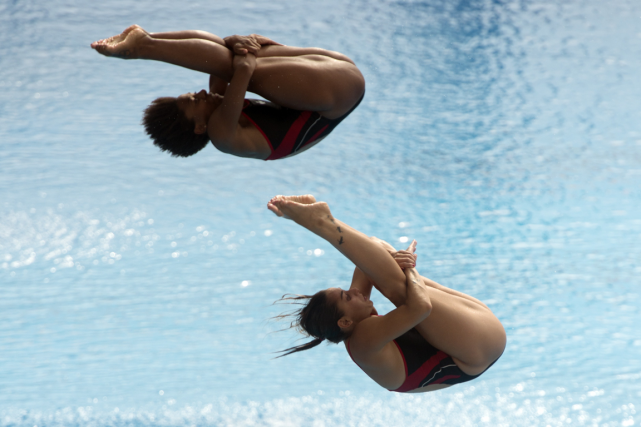 Jennifer Abel et Pamela Ware ont remporté la... (Photo archives AFP)
