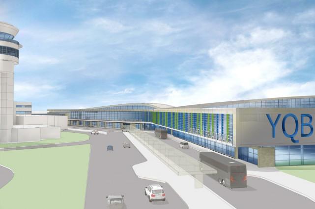 L'aérogare gagnera 25 000 mètres carrés et son... (Image fournie par l'aéroport de Québec)