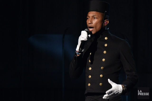 Pharell Williams aux Grammy Awards en février dernier.... (Photo: archives AFP)