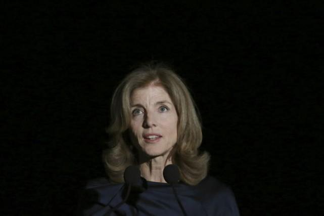 Caroline Kennedy, ambassadrice des États-Unis au Japon.... (Photo Eugene Hoshiko, AP)