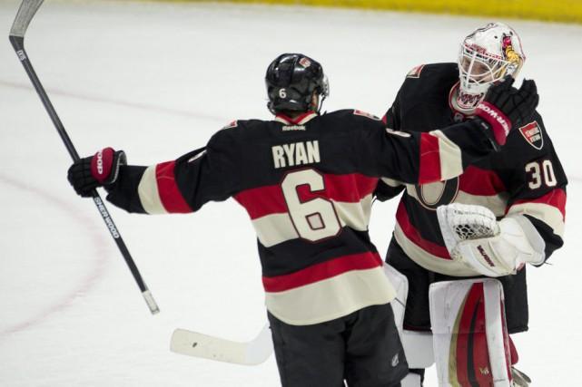 Bobby Ryan a marqué le but qui s'est avéré être celui de la victoire pour... (Photo AP)