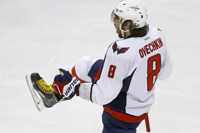 Alex Ovechkin a marqué deux buts pour permettre aux Capitals de Washington de... (Photo AP)