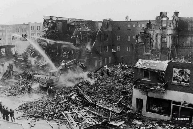 Il y a 25 ans, un incendie suivi... (Photo d'archives, Sylvain Mayer Le Nouvelliste)