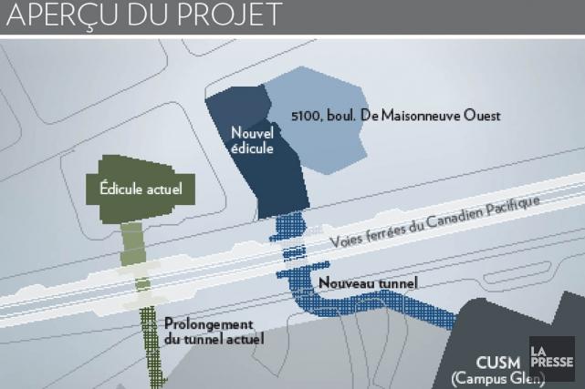 Le ministre des Transports du Québec, Robert Poëti, veut que la station de... (Illustration La Presse / STM)
