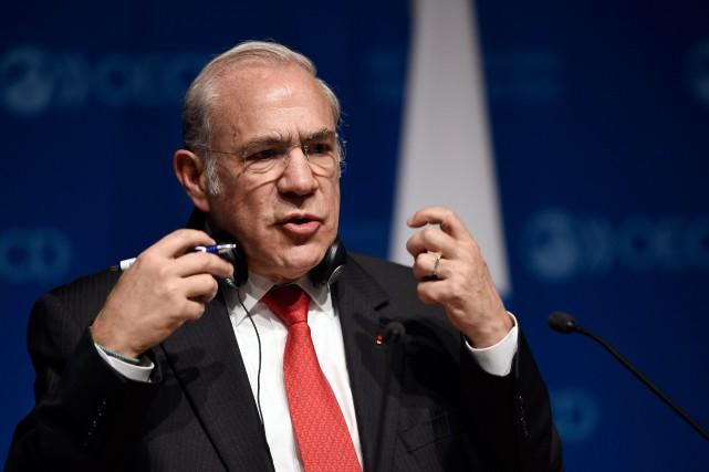 Le secrétaire général de l'OCDE,Angel Gurria... (PHOTO ERIC FEFERBERG, AFP)