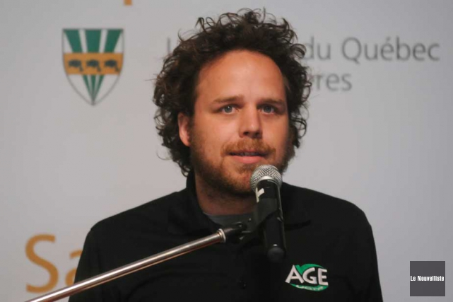 Mathieu Roy, président de l'AGEUQTR.... (Photo: François Gervais, Le Nouvelliste)