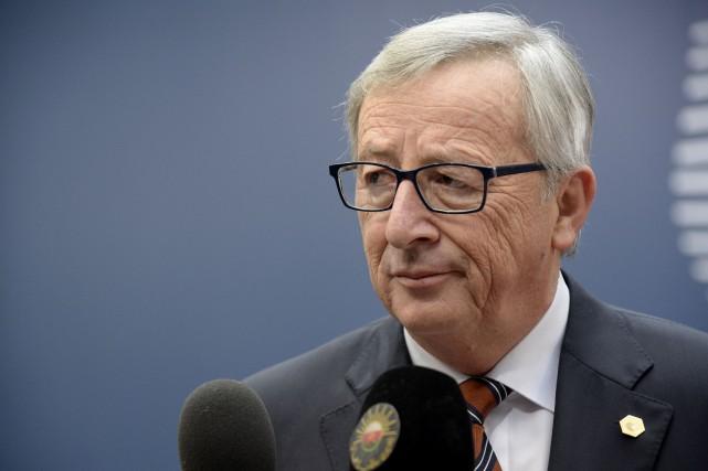 Le président de la Commission européenne,Jean-Claude Juncker... (PHOTO THIERRY CHARLIER, archives AFP)