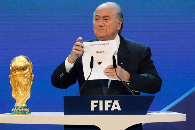 Le président de la FIFA, Joseph Blatter.... (Photo Anja Niedringhaus, archives AP)