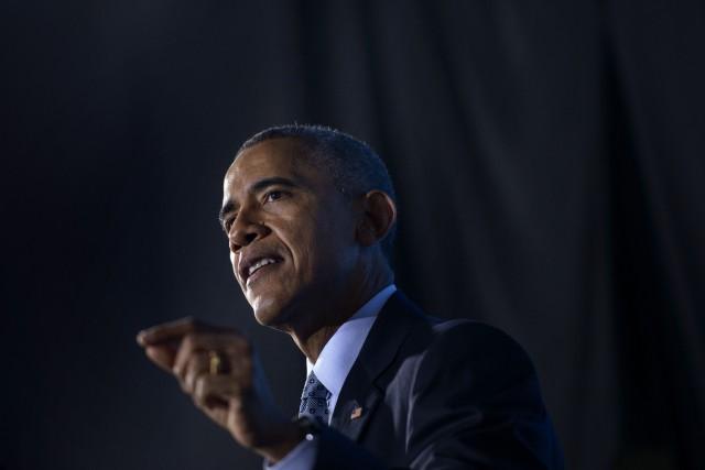 Le président Américain Barack Obama... (PHOTO BRENDAN SMIALOWSKI, AFP)