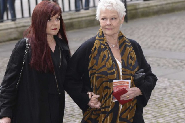 Judi Dench et sa fille Finty Williams... (Photo: AP)