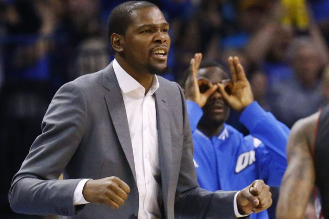 Kevin Durant n'a disputé que 27 des 68 matchs... (PHOTO SUE OGROCKI, AP)