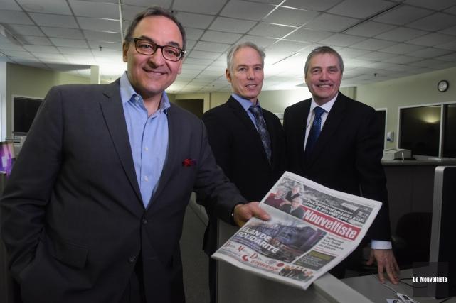 Martin Cauchon, propriétaire de Groupe Capitales Médias etClaude... (Photo: François Gervais, Le Nouvelliste)