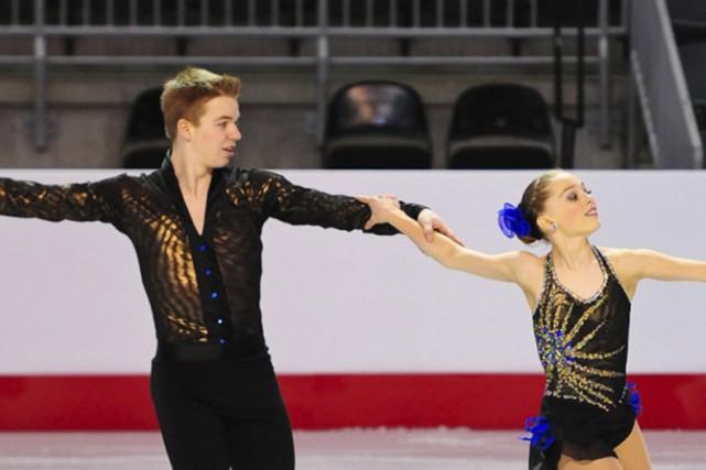 Mathieu Ostiguy et Justine Brasseur, récemment médaillés d'or... (photo Skate Canada)