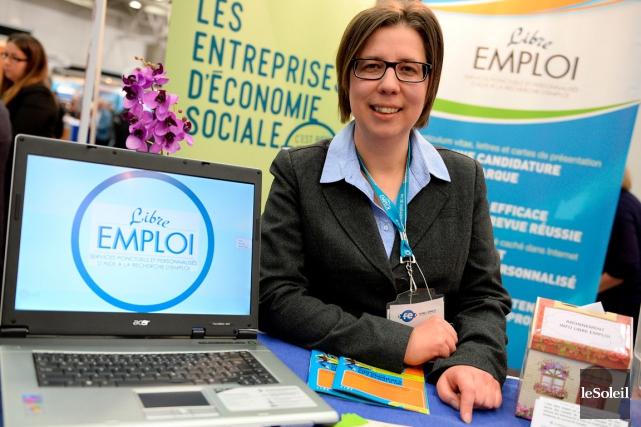 La directrice générale de Libre Emploi, Sonia Claveau... (Le Soleil, Erick Labbé)