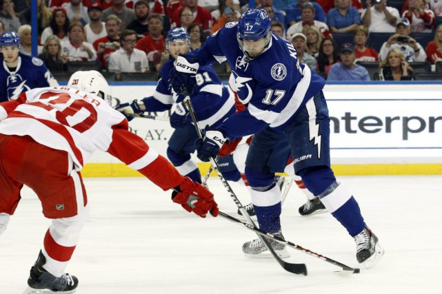 Alex Killorn a inscrit le but gagnant à mi-chemin en troisième période, Ben... (Photo USA Today Sports)