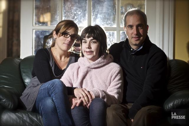 La jeune Maëlle, 12 ans, que l'on voit... (Photo André Pichette, La Presse)