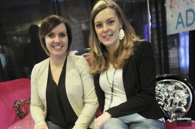 Les organisatrices Valérie Giroux et Maryse Delagrave sont... ((Photo Le Quotidien-Rocket Lavoie))