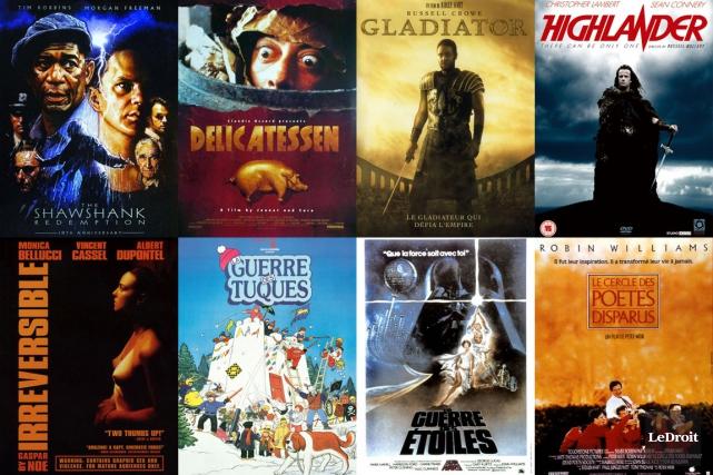 La vie d'un cinéphile est faite de plusieurs films marquants. Certaines oeuvres... (Photomontage LeDroit)