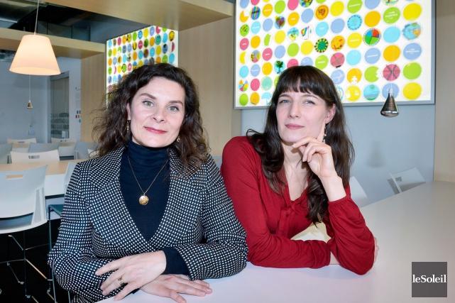 Andrée Pelletier (à gauche) et Geneviève Provencher-St-Cyr, de... (Le Soleil, Jean Marie Villeneuve)