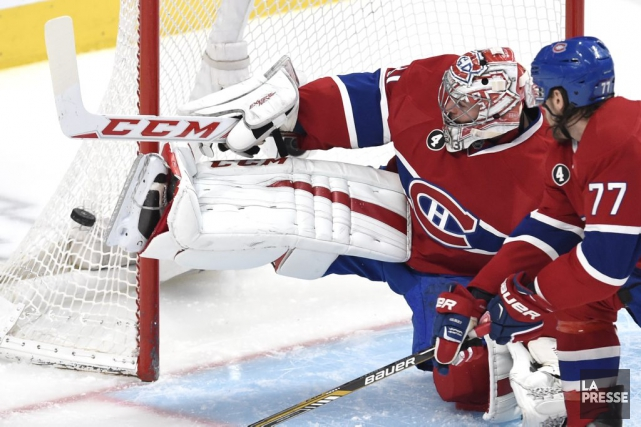 Carey Price a remporté sa 40e victoire de... (PHOTO BERNARD BRAULT, LA PRESSE)