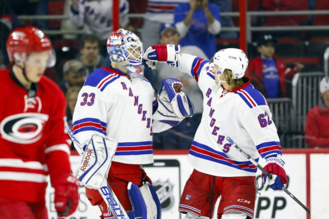 Les Rangers de New York ont difficilement vaincu... (Photo James Guillory-USA TODAY Sports)