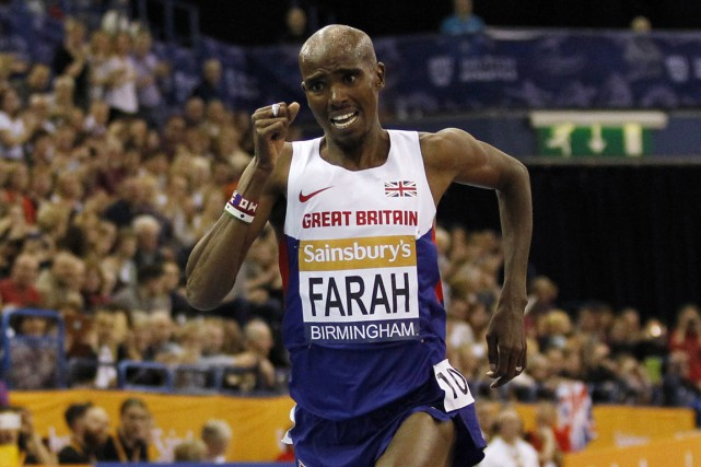 Mo Farah... (PHOTO IAN KINGTON, AFP)