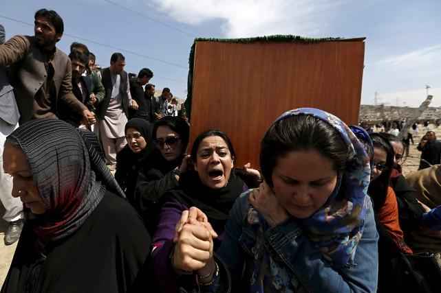 Fait rare en Afghanistan, au cours de la... (PHOTO Mohammad Ismail, REUTERS)