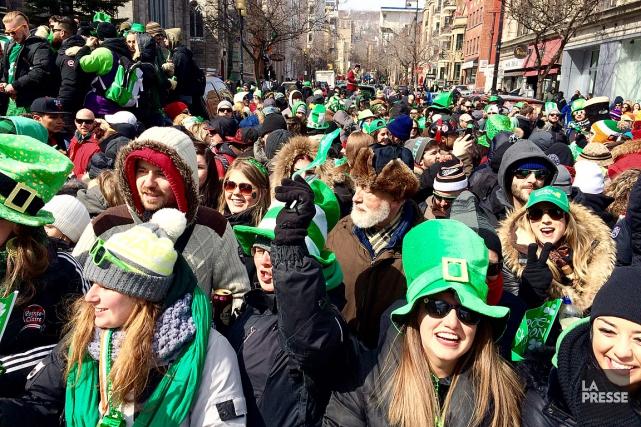 Le 193e défilé de la Saint-Patrick se tient... (PHOTO OLIVIER PONTBRIAND, ARCHIVES LA PRESSE)