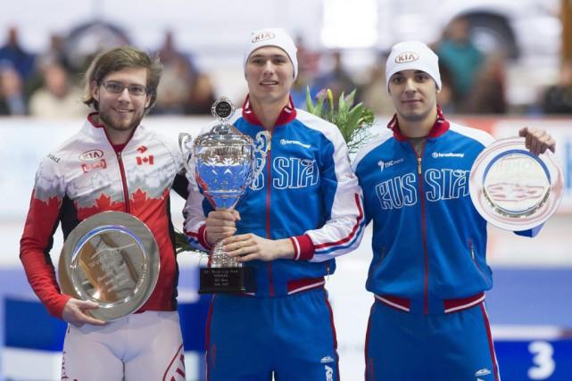 Le gagnant du globe de cristal, Pavel Kulizhnikov,... (Photo AFP, Jens Meyer)