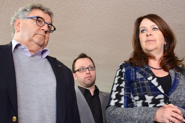 Les maires Éric Forest, Daniel Côté et Suzanne... (Photo collaboration spéciale Johanne Fournier)